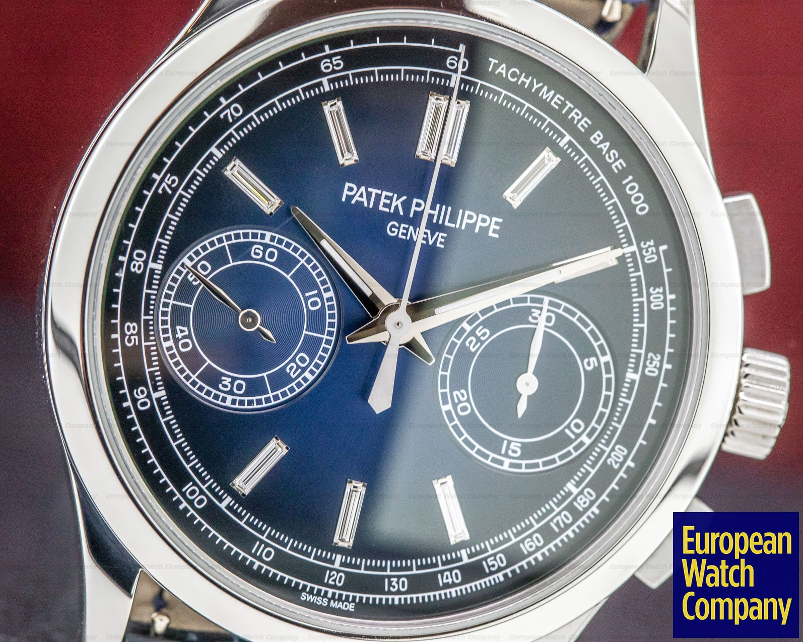 Patek Philippe 5170P-001 Chronograph Platinum Blue Diamond Dial FULL SET