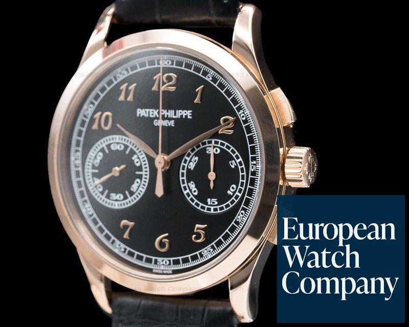 Patek Philippe 5170R-010 Chronograph 18K Rose Gold Black Dial