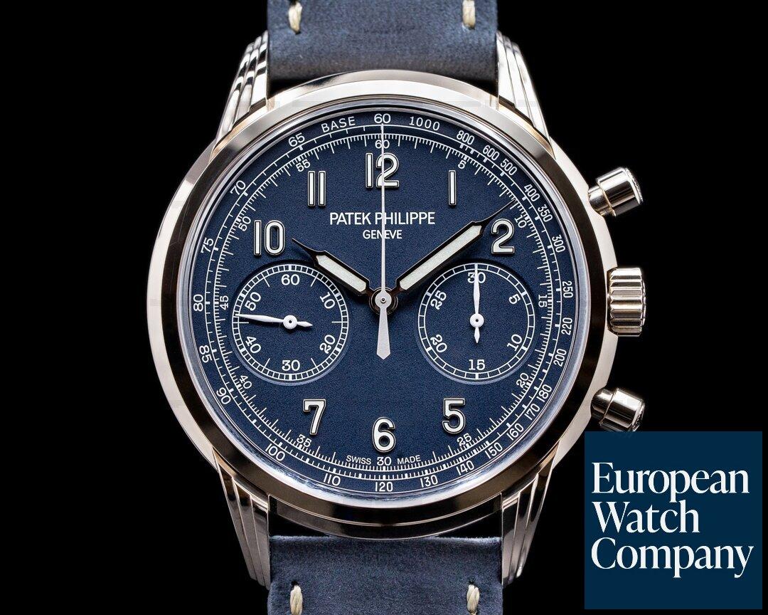 Patek Philippe Chronograph 5172G 18K White Gold Blue Dial UNWORN 2021 Ref. 5172G