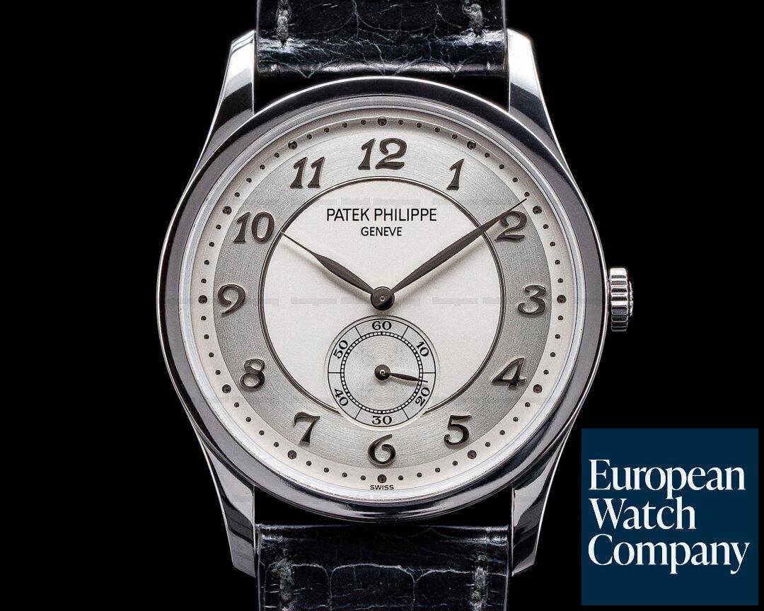 Patek Philippe Calatrava Platinum 5196P Silver Dial Arabic Numerals Ref. 5196P-001