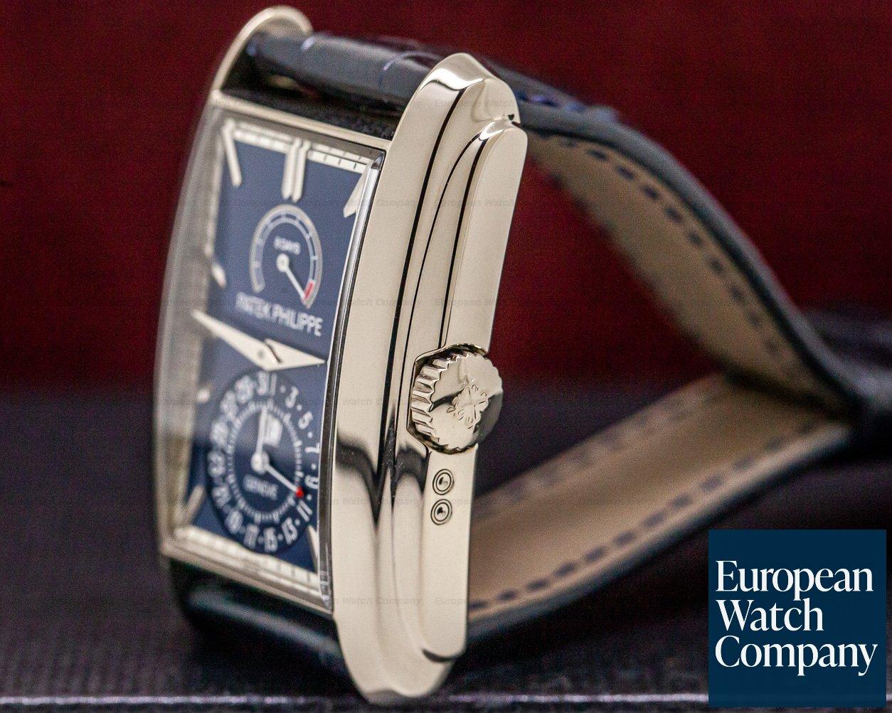 Patek Philippe 5200G-001 Gondolo 8 Day Manual Wind Blue Dial 18K White Gold