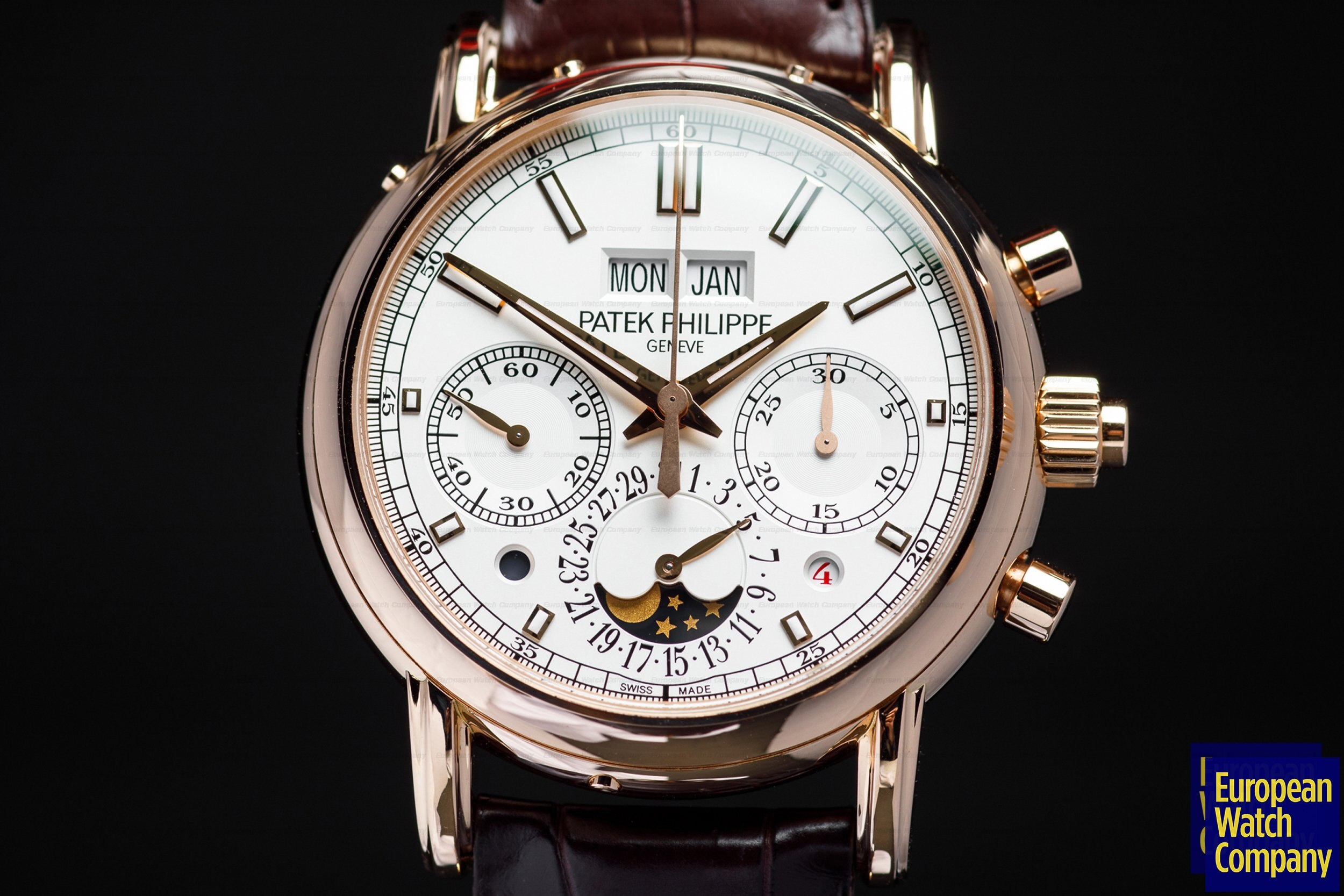 Patek Philippe 5204R-001 5204R Split Second Perpetual Calendar Chronograph 18k Rose Gold FULL SET