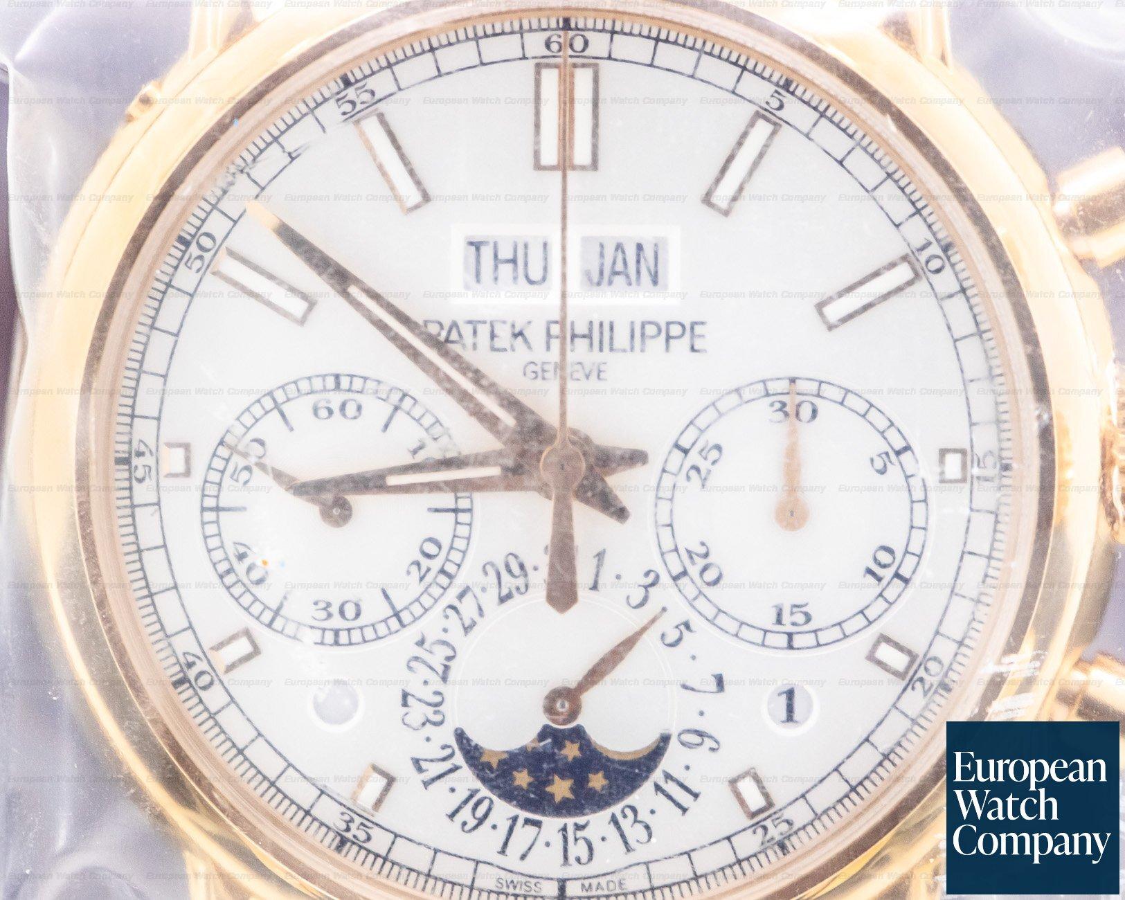 Patek Philippe 5204R-001 Split Second Perpetual Calendar Chronograph Rose Gold UNWORN