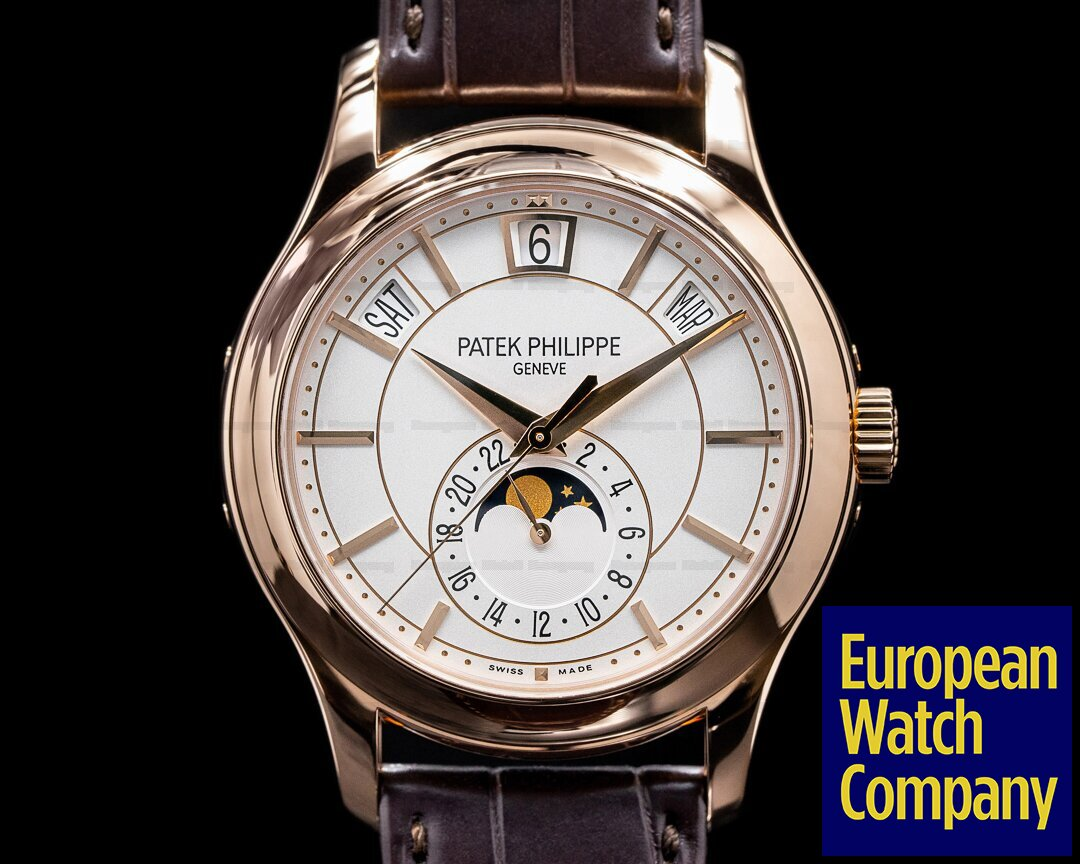 Patek Philippe Annual Calendar 5205R Silver Dial 18K Rose Gold Ref. 5205R-001