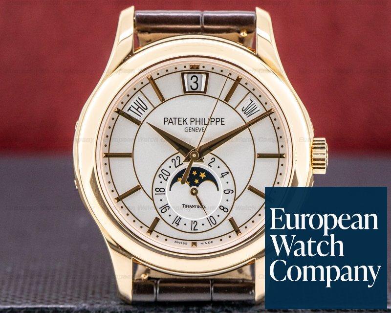 "Patek Philippe 5205R-001 TIFFANY Annual Calendar Silver Dial 18K Rose Gold ""TIFFANY & CO"""