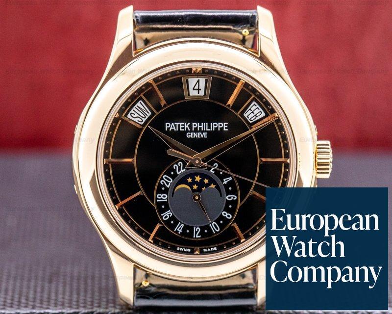 Patek Philippe 5205R-010 Annual Calendar 5205R Black Dial 18k Rose Gold