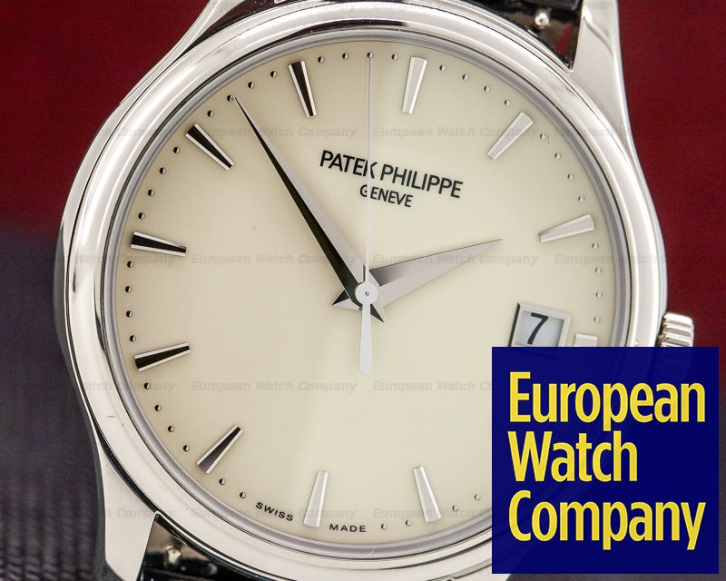 Patek Philippe 5227G-001 Calatrava Automatic Ivory Dial 18K White Gold