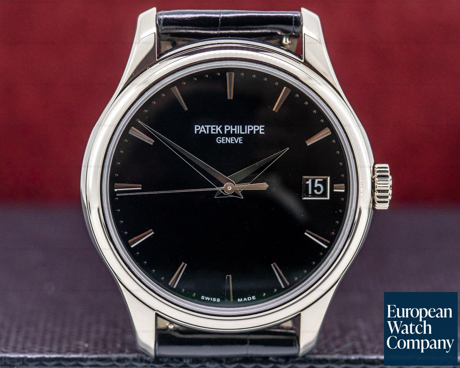 Patek Philippe 5227G-010 Calatrava Automatic 18K White Gold Black Dial