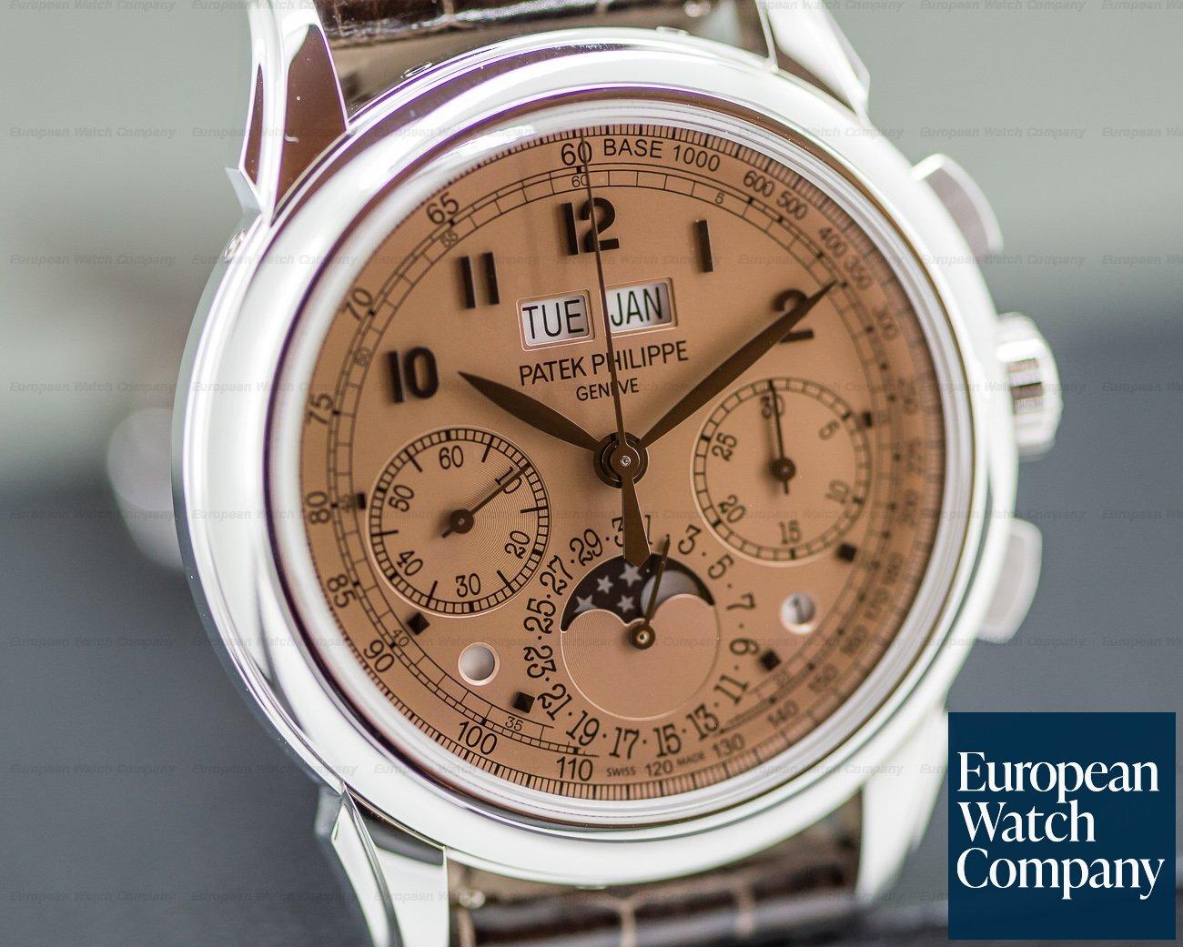 Patek Philippe 5270P-001 5270P Perpetual Calendar Chronograph Platinum Salmon Dial UNWORN