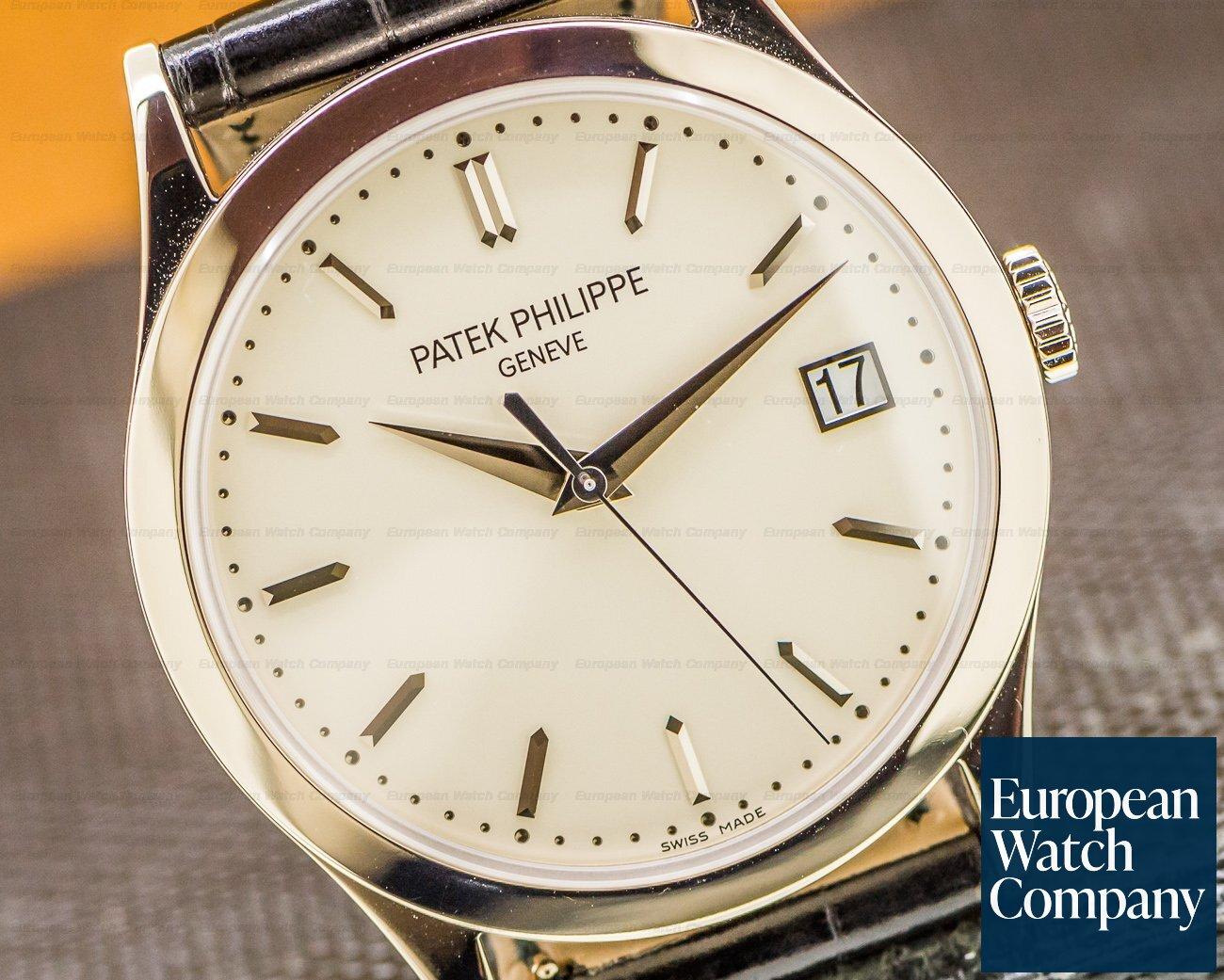 Patek Philippe 5296G-010 Calatrava 18K White Gold Silver Dial UNWORN