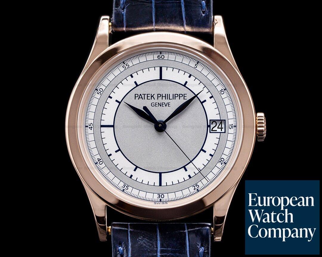 Patek Philippe 5296R-001 Calatrava 5296R 18K Rose Gold Sector Dial