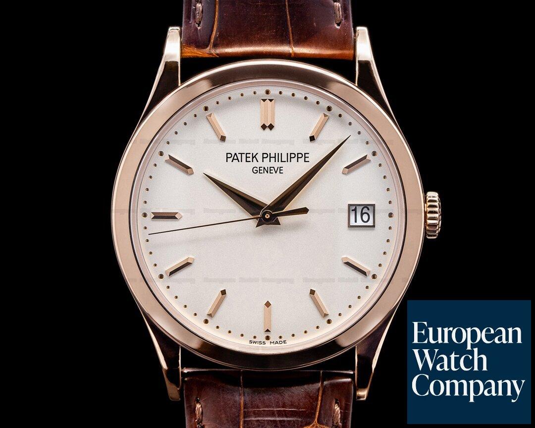 Patek Philippe Calatrava 5296R 18K Rose Gold Silver Dial Ref. 5296R-010