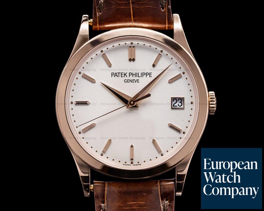 Patek Philippe 5296R-010 Calatrava 5296R 18K Rose Gold Silver Dial