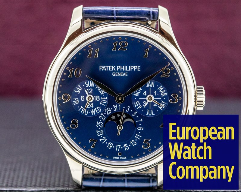 Patek Philippe 5327G-001 Perpetual Calendar 5327G 18K White Gold / Blue Dial FULL SET