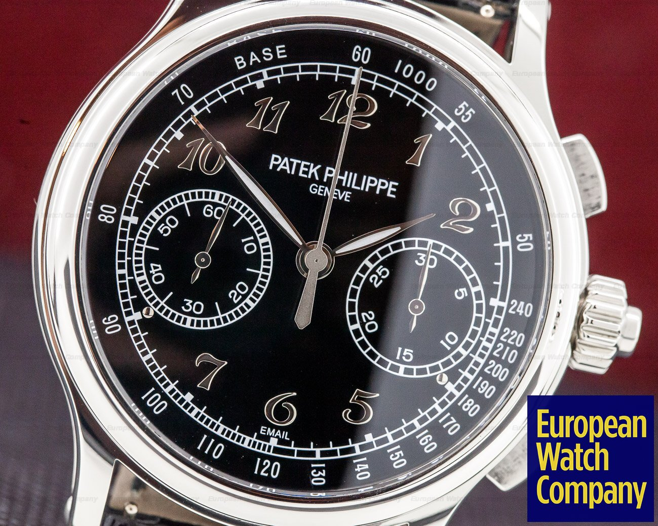 Patek Philippe 5370P-001 Split Second Platinum Black Enamel Dial