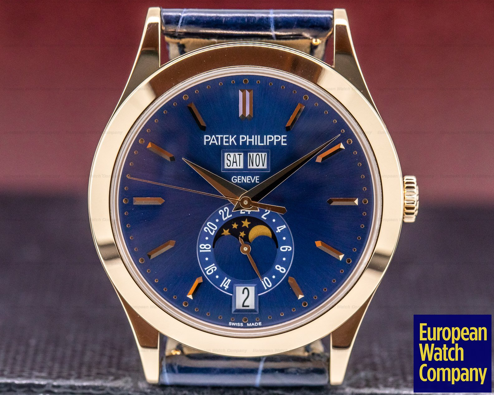 Patek Philippe 5396R-014 Annual Calendar Rose Gold Blue Dial