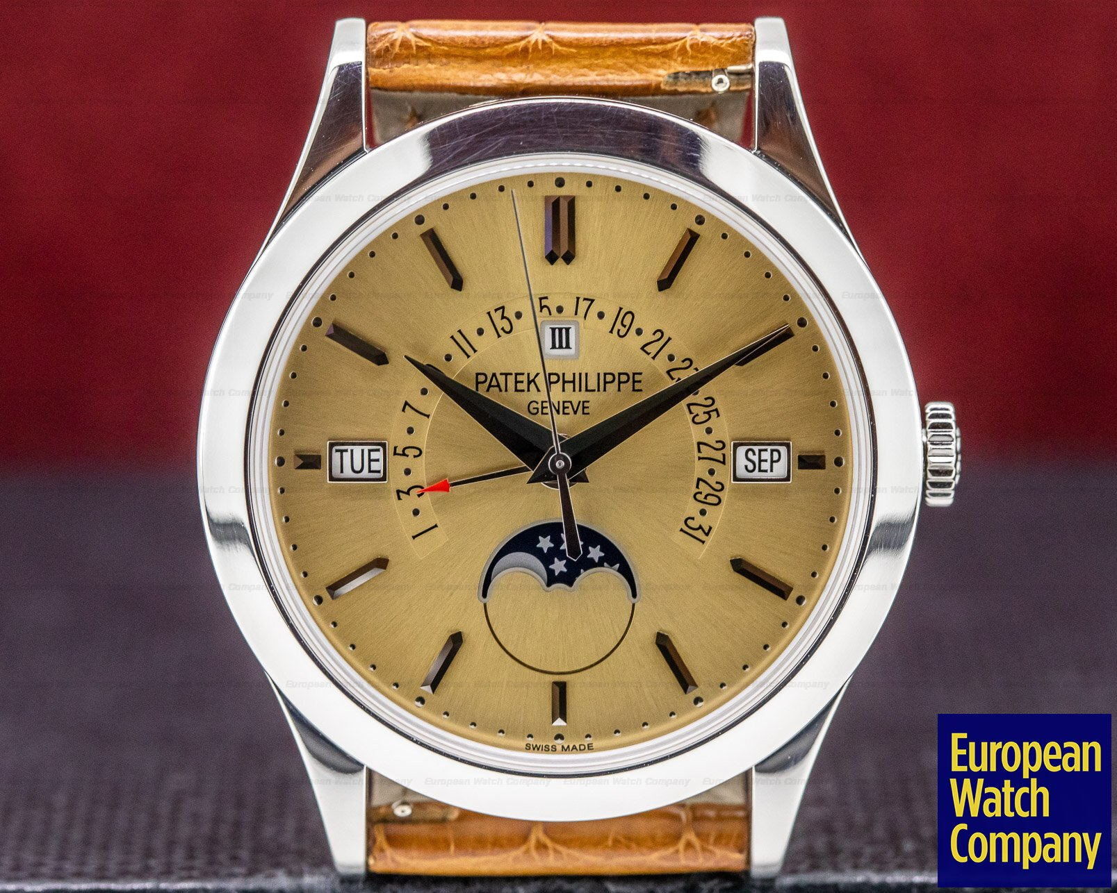 Patek Philippe 5496P-014 Retrograde Perpetual Calendar Platinum Bronze Dial