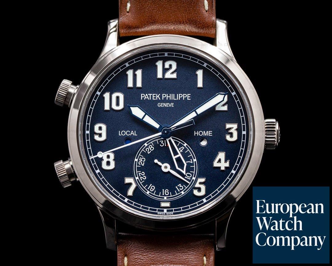 Patek Philippe Calatrava 5524G Pilot Travel Time 18k White Gold 2019 Ref. 5524G-001