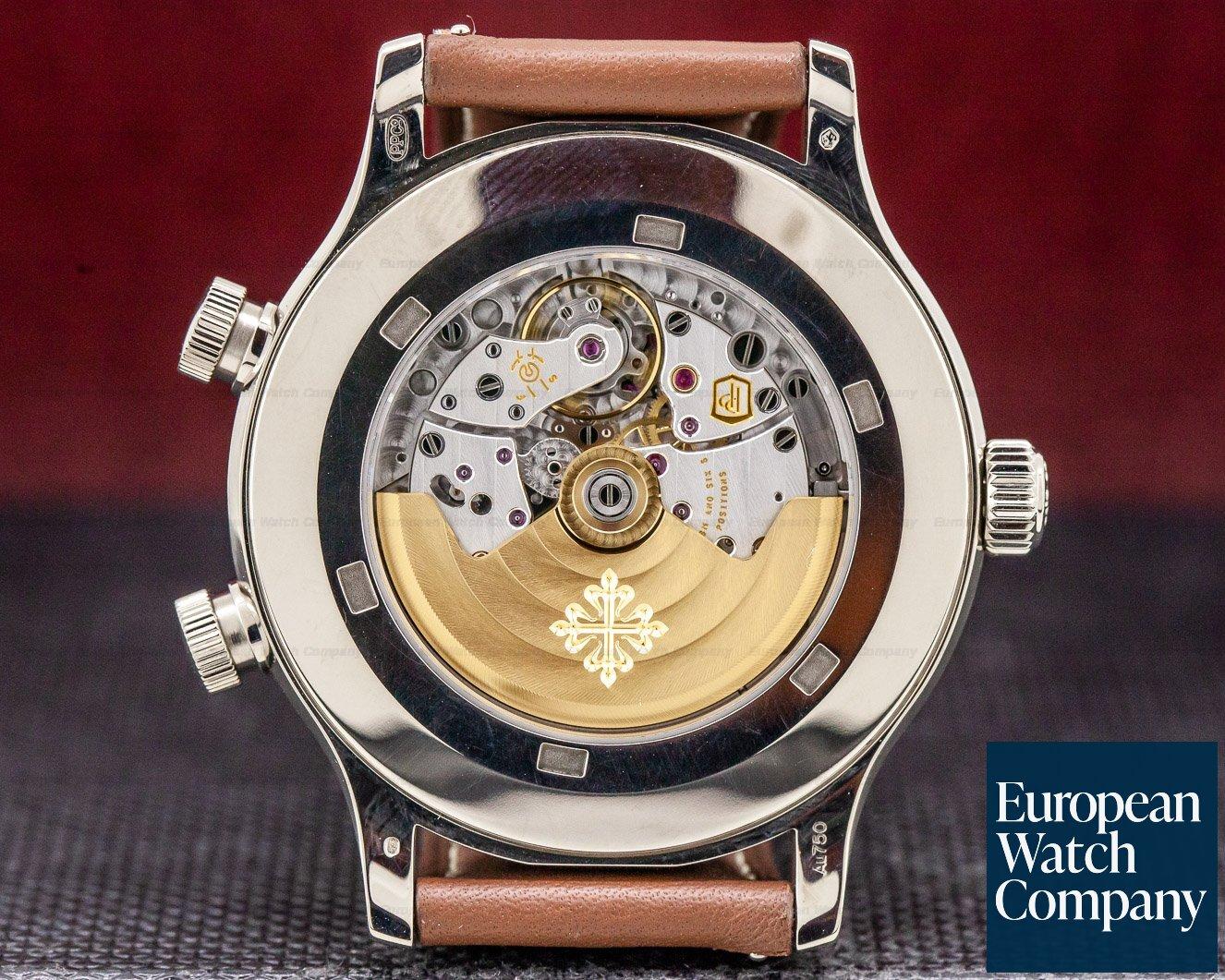 Patek Philippe 5524G-001 Calatrava Pilot Travel Time 18k White Gold