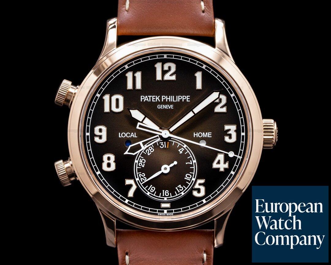 Patek Philippe Calatrava 5524R Pilot Travel Time 18k Rose Gold 2020 Ref. 5524R-001