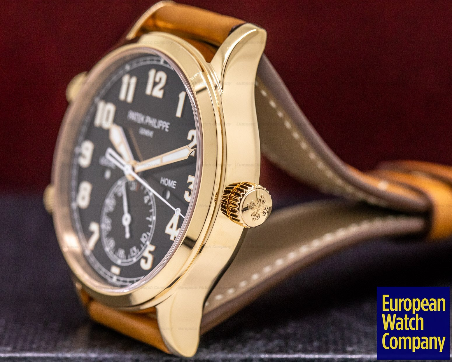 Patek Philippe 5524R-001 Calatrava Pilot Travel Time 18k Rose Gold