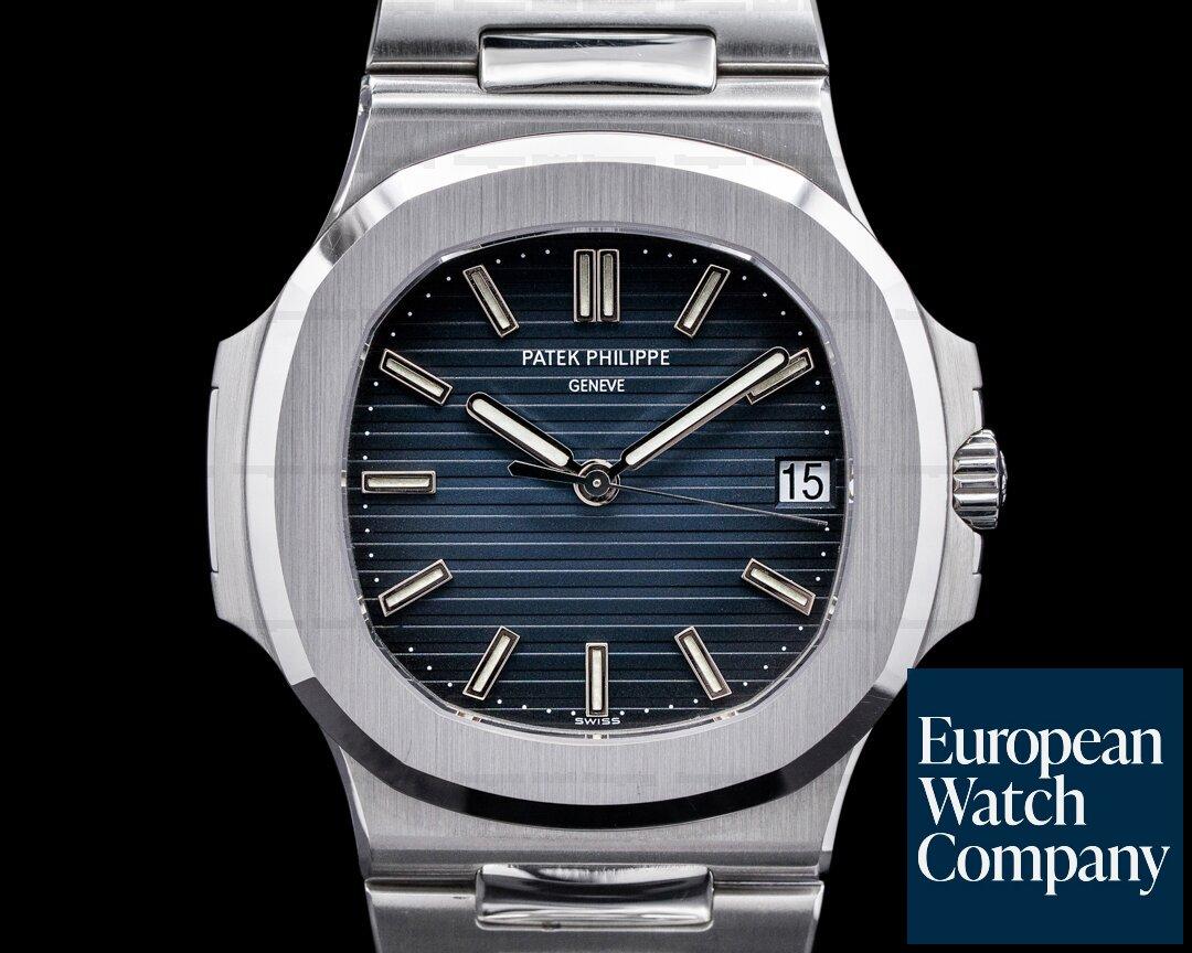 Patek Philippe 5711/1A-001 Jumbo Nautilus 5711 Blue Dial SS FULL SET