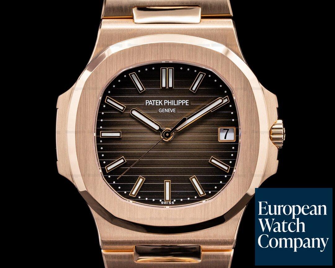 Patek Philippe 5711/1R-001 Jumbo Nautilus 5711R 18K Rose Gold Brown Dial / Bracelet