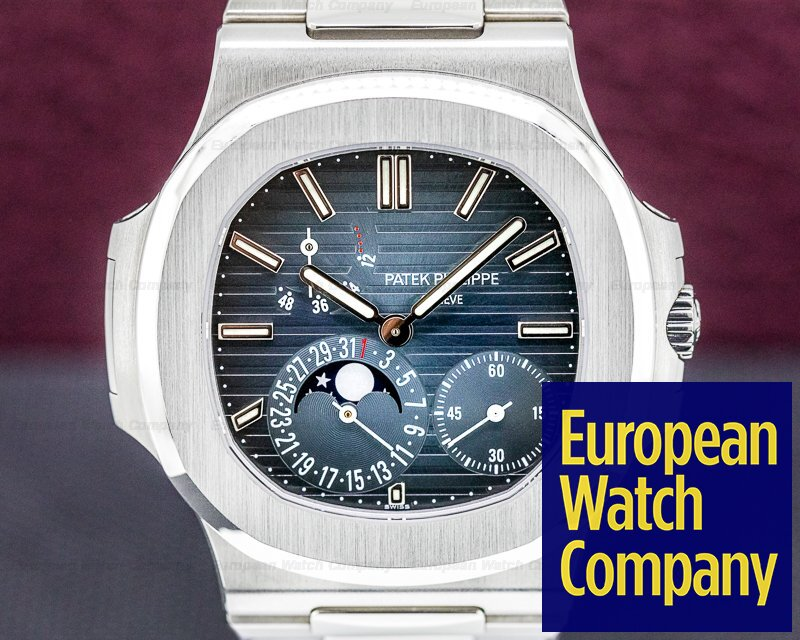Patek Philippe 5712/1A-001 Jumbo Nautilus 5712 Moonphase Power Reserve SS ORIGINAL OWNER