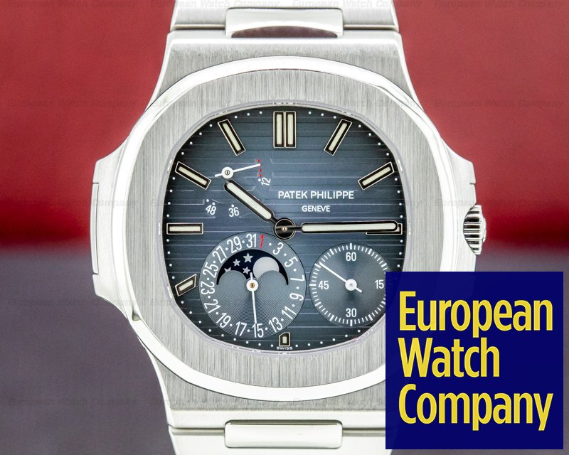 Patek Philippe Nautilus 5712 Moonphase Power Reserve SS FULL PP SERVICE Ref. 5712/1A-001