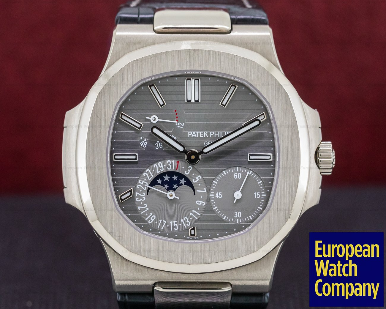 Patek Philippe 5712G-001 Nautilus Power Reserve Moonphase 18K White Gold