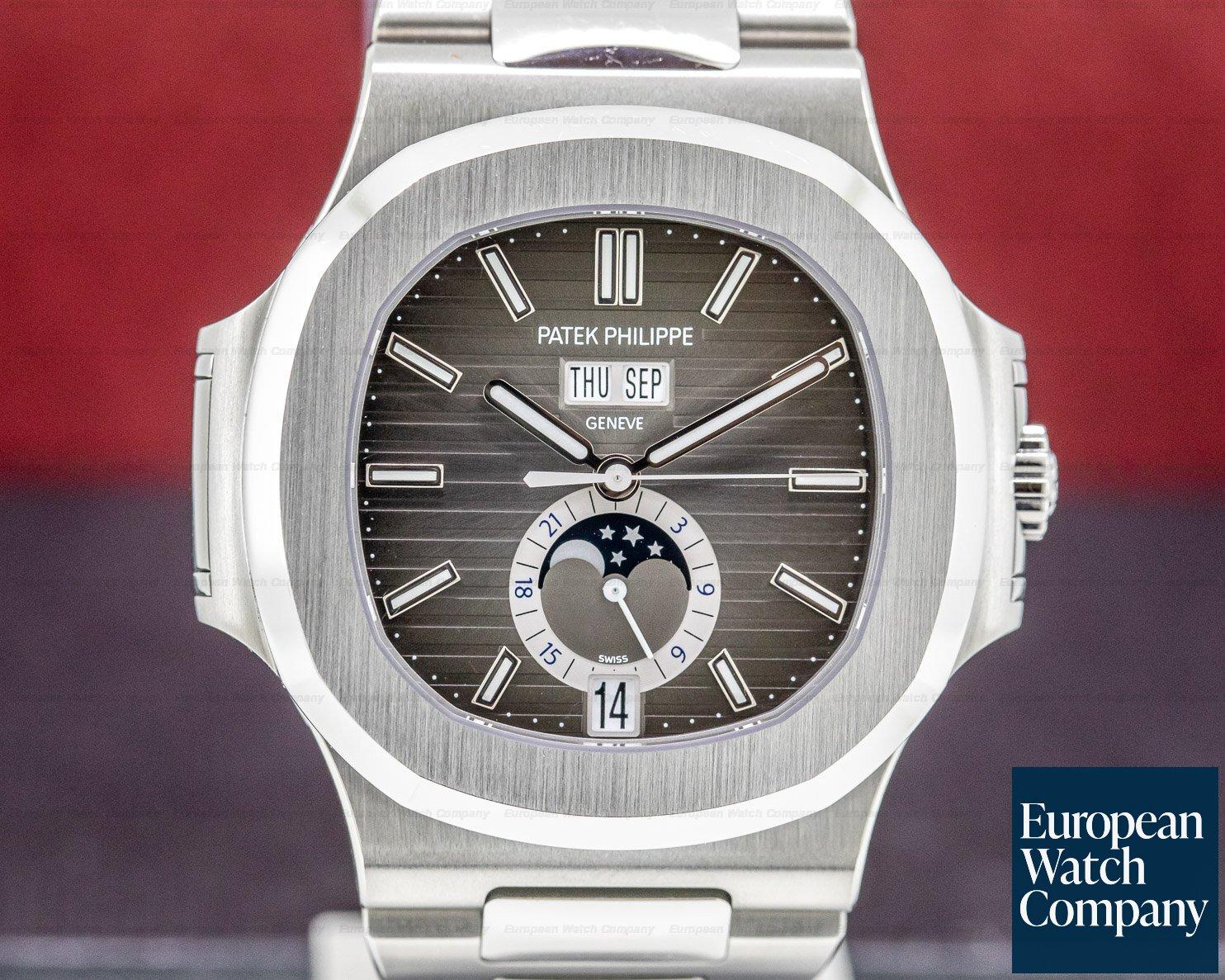 Patek Philippe 5726/1A-001 Nautilus Annual Calendar Moon Grey Dial SS / SS UNWORN