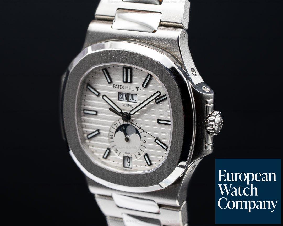 Patek Philippe 5726/1A-010 Nautilus Annual Calendar Moon White Dial SS / SS