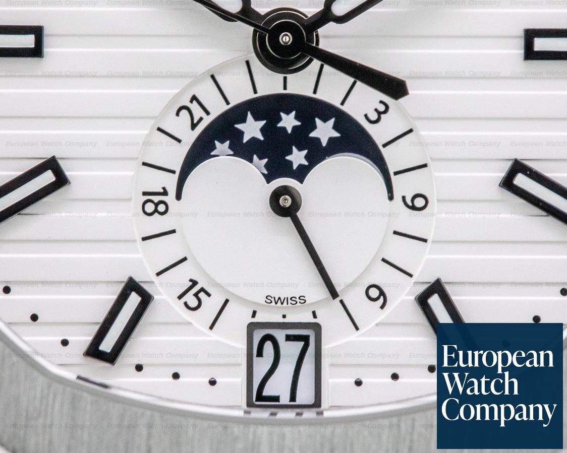 Patek Philippe 5726/1A-010 Nautilus Annual Calendar Moon White Dial SS FULL SET