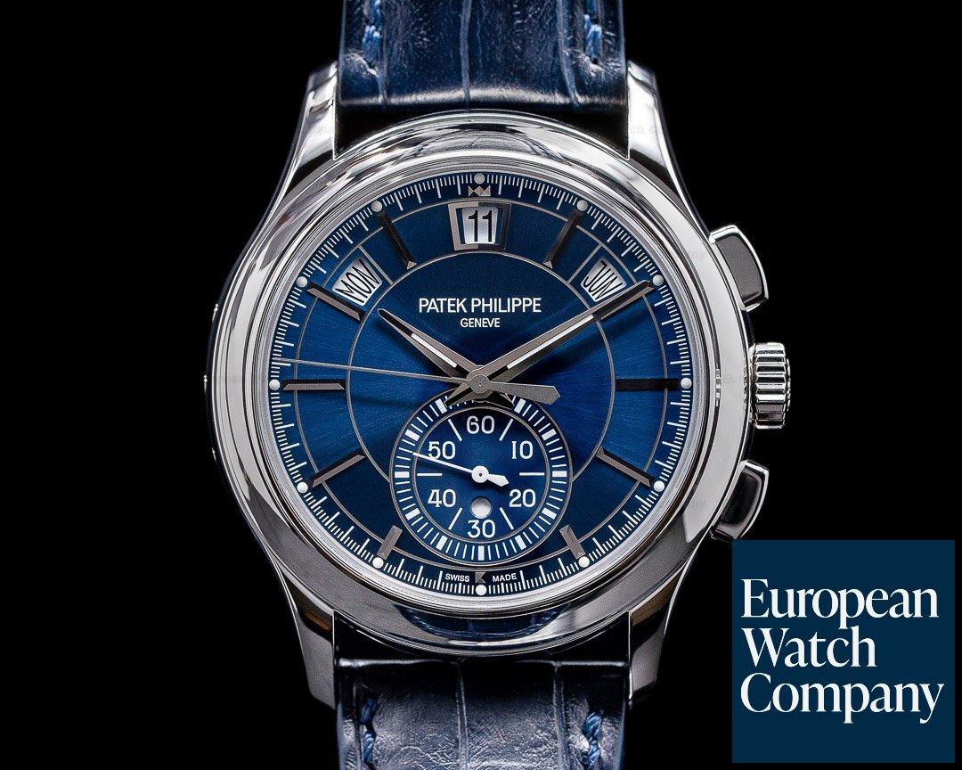 Patek Philippe 5905P-001 Chronograph Annual 5905P Calendar Platinum / Blue Dial