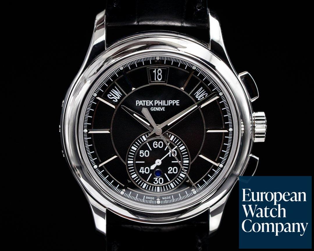 Patek Philippe 5905P-010 Chronograph Annual 5905P Calendar Platinum / Black Dial
