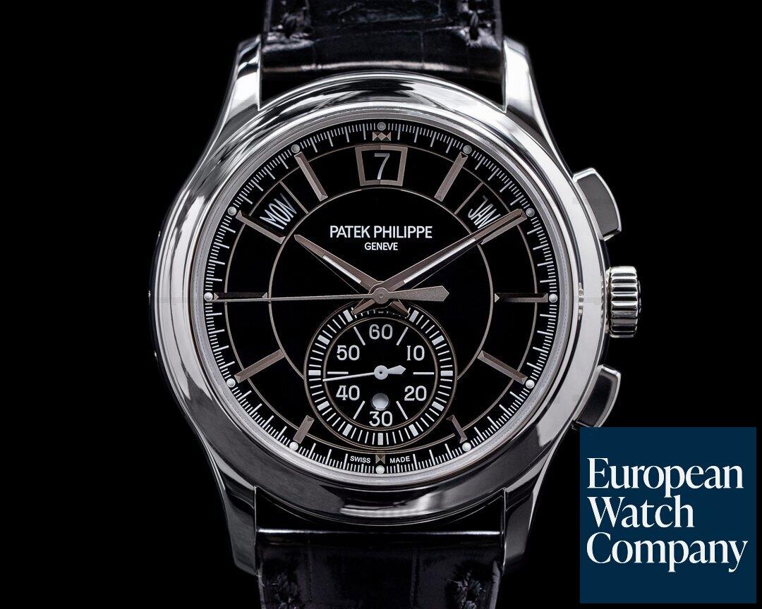 Patek Philippe Chronograph Annual 5905P Calendar Platinum / Black Dial Ref. 5905P-010