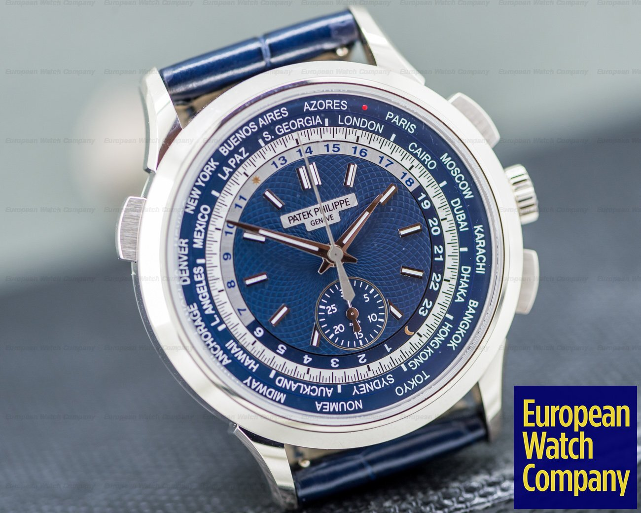Patek Philippe 5930G-001 World Time Chronograph 18k White Gold