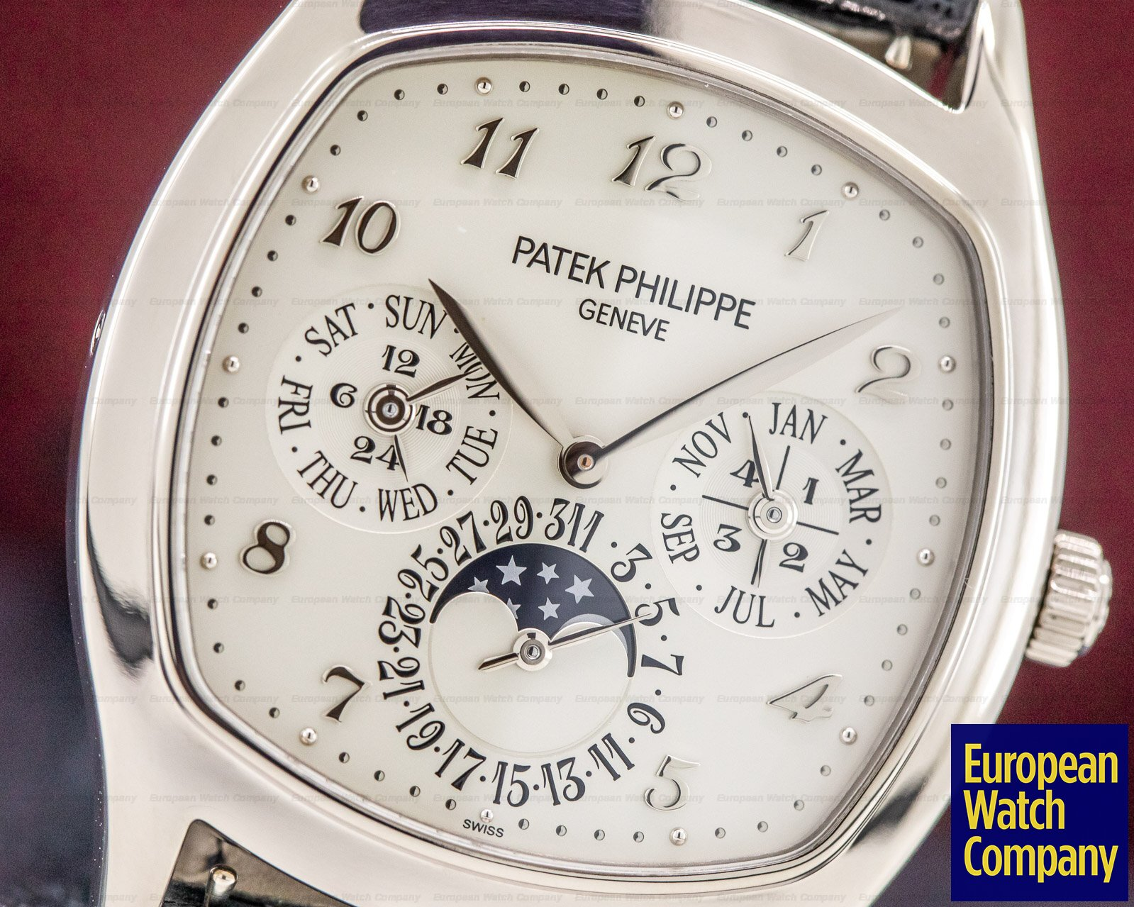 Patek Philippe 5940G-001 Perpetual Calendar 18K White Gold Cushion Case FULL SET