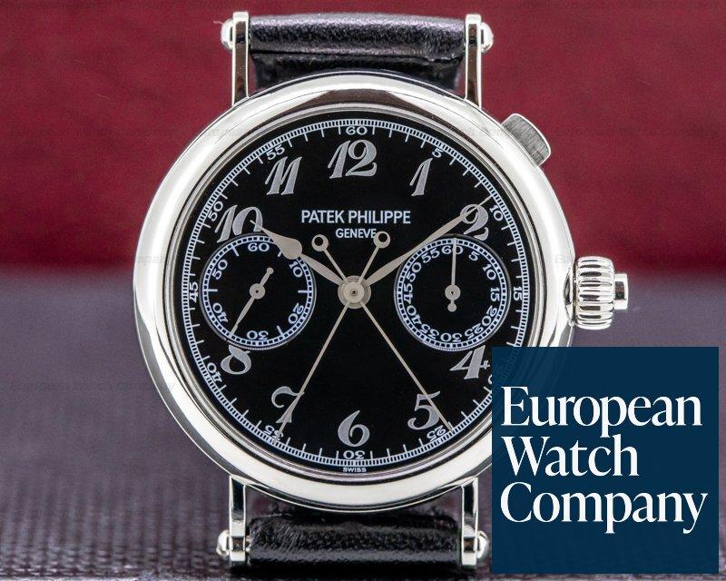 Patek Philippe 5959P Split-Seconds 5959P Chronograph Platinum Black Dial RARE