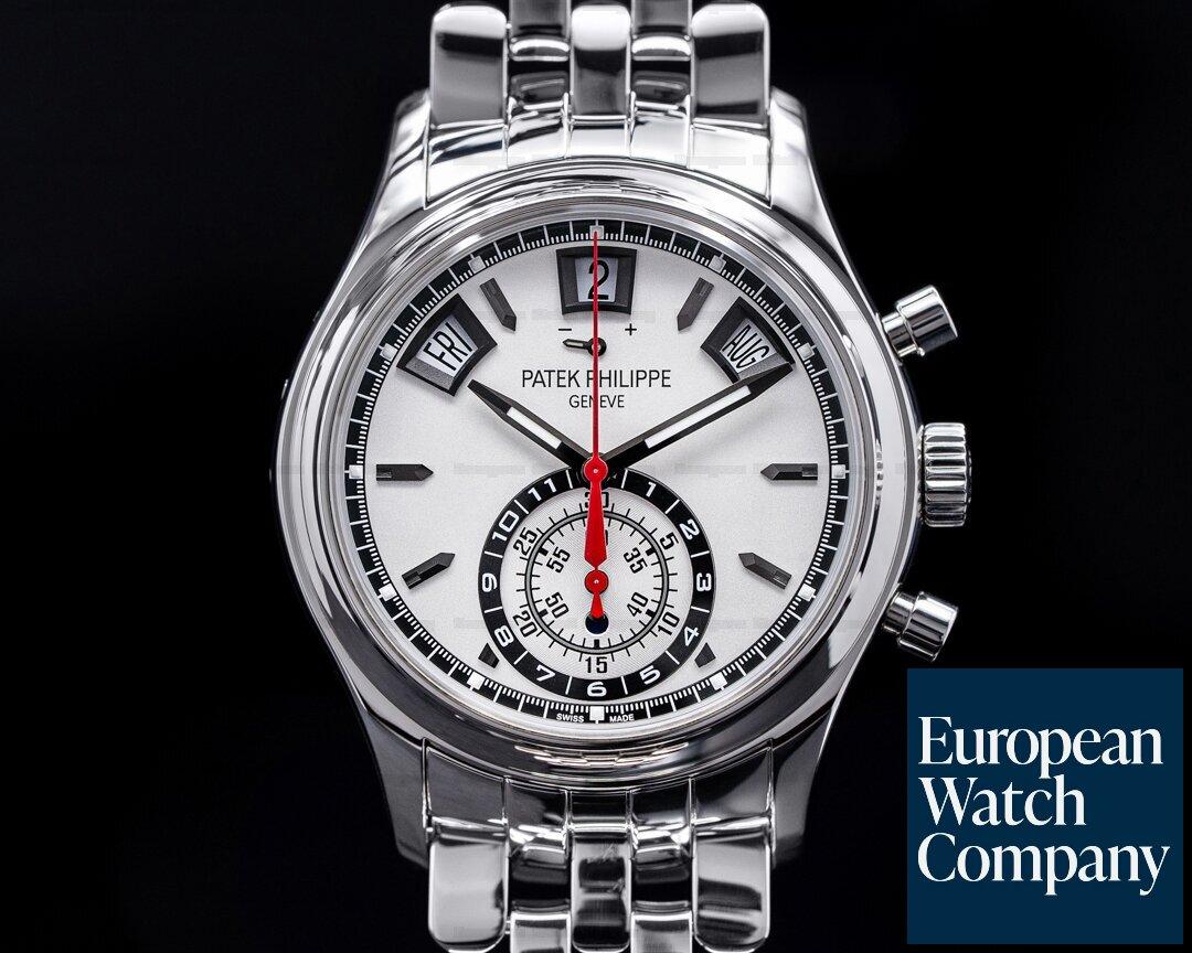 Patek Philippe 5960/1A-001 Annual Calendar 5960/1A Chronograph SS White Dial
