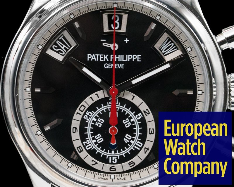 Patek Philippe 5960/1A-010 Annual Calendar Black Dial Chronograph SS DISCONTINUED
