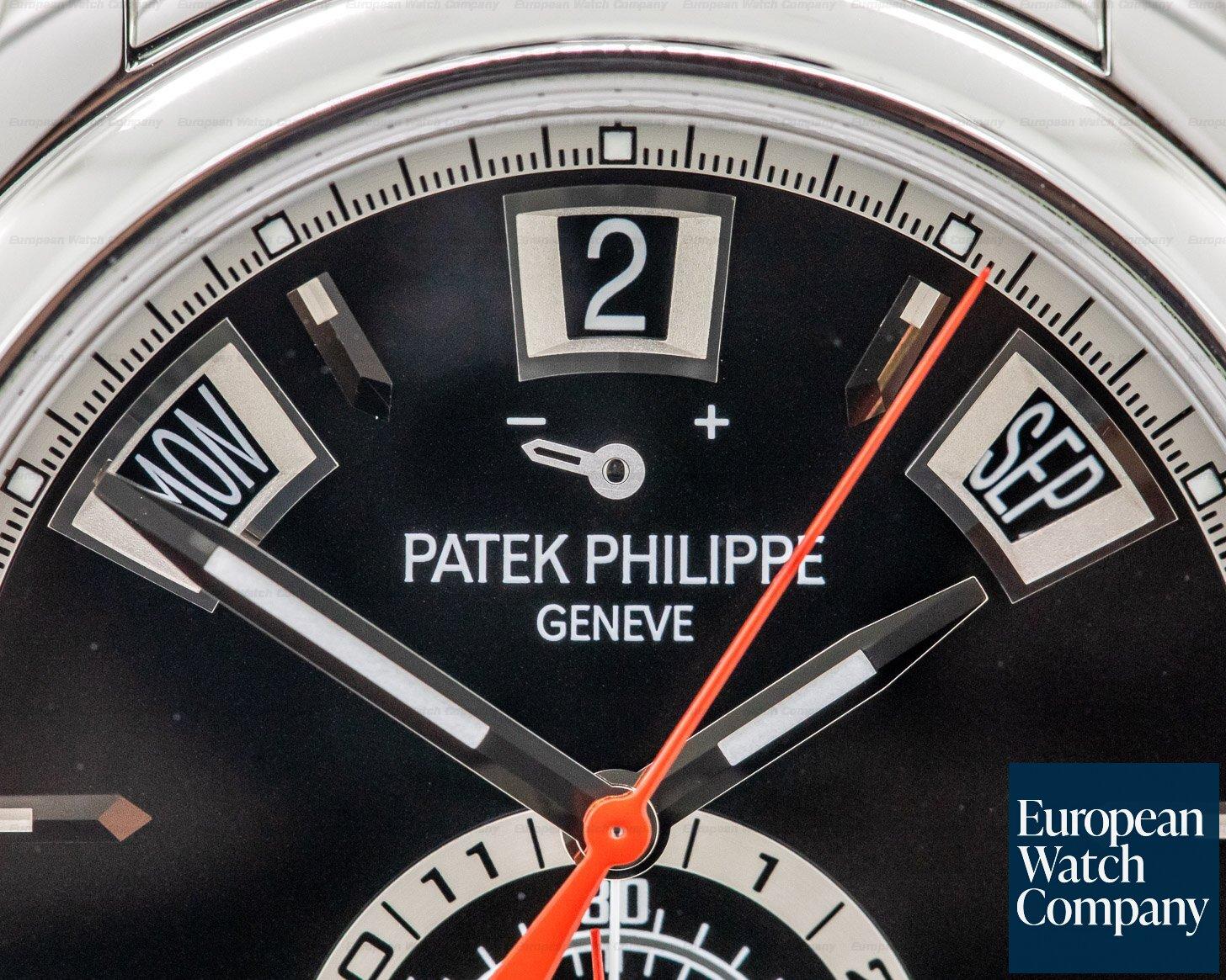 Patek Philippe 5960/1A-010 Annual Calendar Black Dial Chronograph SS DISCONTINUED