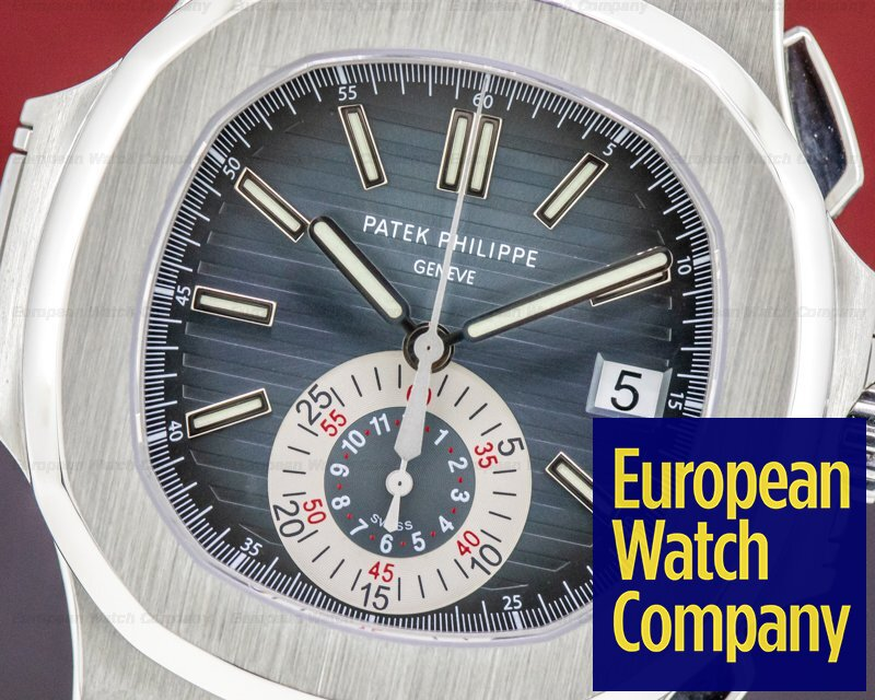 Patek Philippe 5980/1A-001 Nautilus 5980/1A Chronograph SS Blue Dial