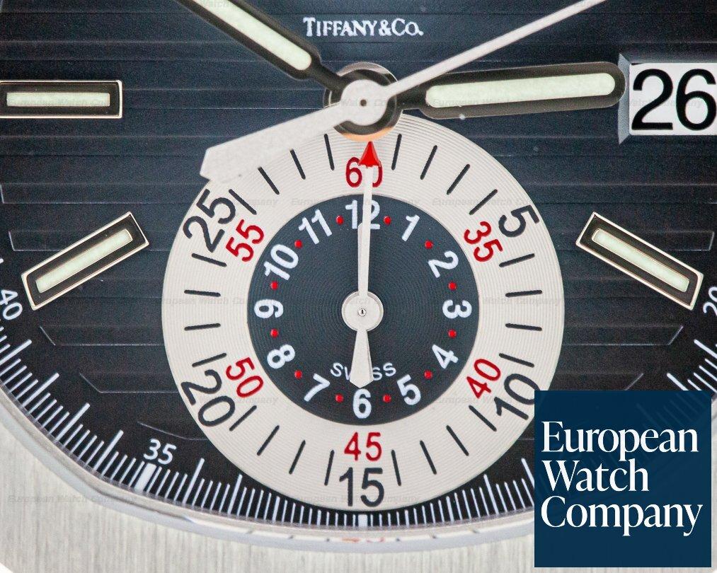 "Patek Philippe 5980/1A-001 Nautilus Chronograph SS Blue Dial ""TIFFANY & CO"""