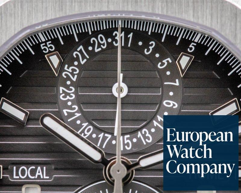 Patek Philippe 5990/1A-001 Nautilus Travel Time Chronograph Grey Dial SS FULL SET
