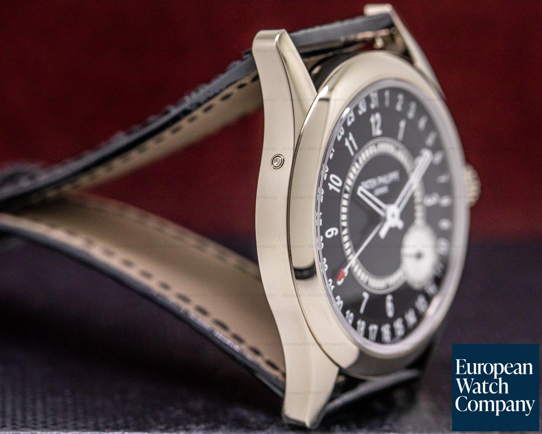 Patek Philippe 6006G-001 Calatrava Black Dial 18K White Gold / Deployant