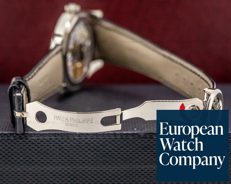 Patek Philippe 6006G-001 Calatrava Black Dial 18K White Gold / Deployant UNWORN DISCONTINUED