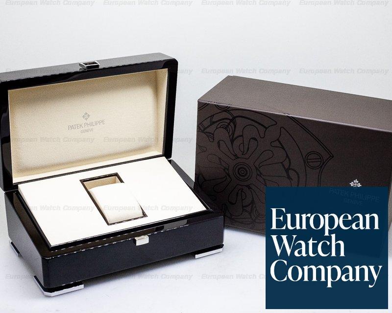 Patek Philippe 6006G-001 Calatrava Black Dial 18K White Gold / Deployant DISCONTINUED