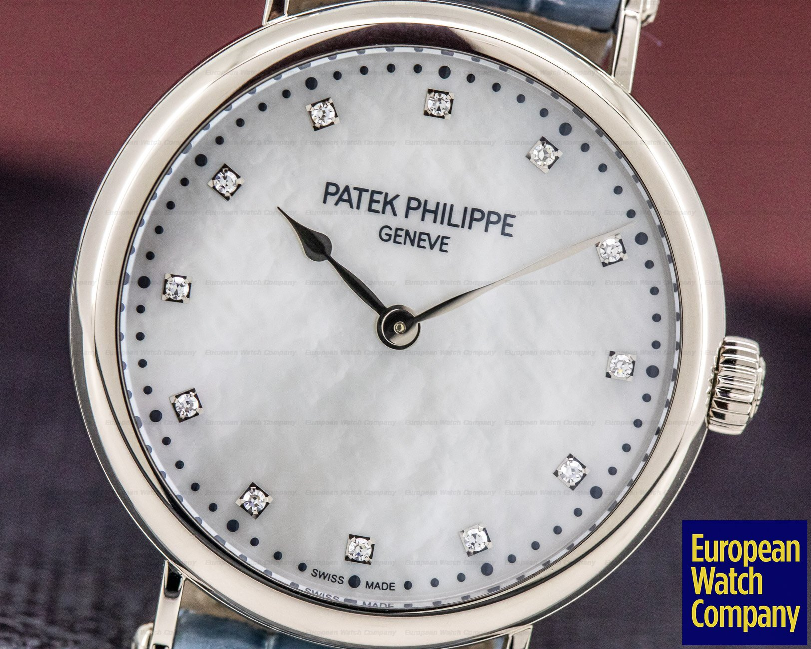 Patek Philippe 7200/50G-010 Ladies Calatrava New York 2017 Special Edition 18K WG MOP Dial LIMITED