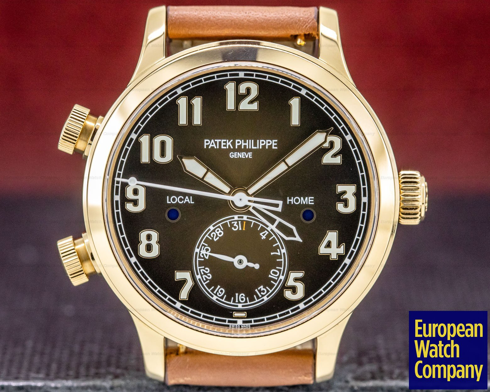 Patek Philippe 7234R-001 Mid Size Calatrava Pilot Travel Time 18k Rose Gold